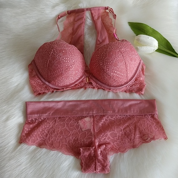 15faa97a93 Size 34C🌺PINK VS DATE PUSH-UP BRA+ PANTY S.nwt